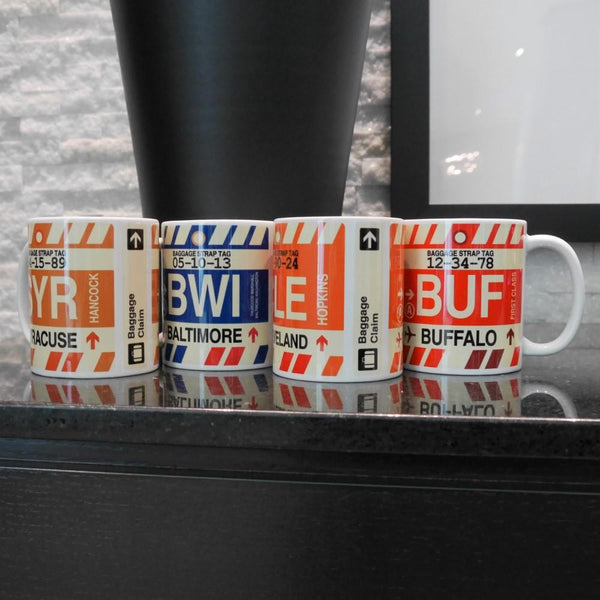 YHM Designs - DFW Dallas-Fort Worth Airport Code Coffee Mug - Image 02