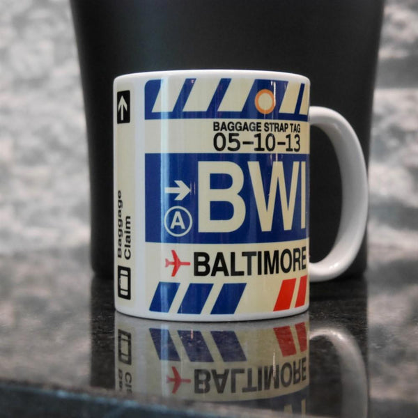 YHM Designs - BWI Baltimore-Washington Airport Code Coffee Mug - Image 06