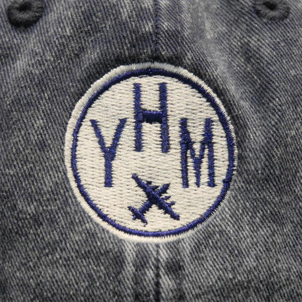 YHM Designs - Vintage Roundel Airport Code Cotton Twill Cap 3