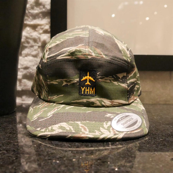 YHM Designs - Jetliner Airport Code Camper Hat 1