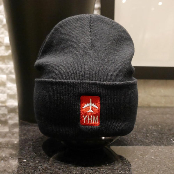 YHM Designs - Jetliner Airport Code Winter Hat 1