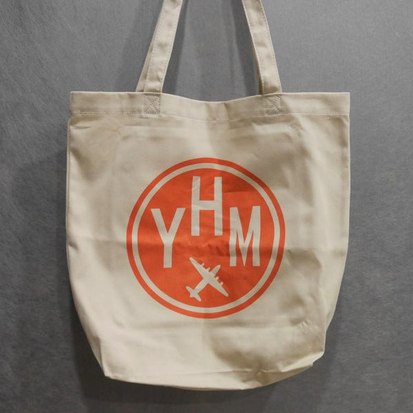 YHM Designs - Airport Code Organic Tote Bag 1