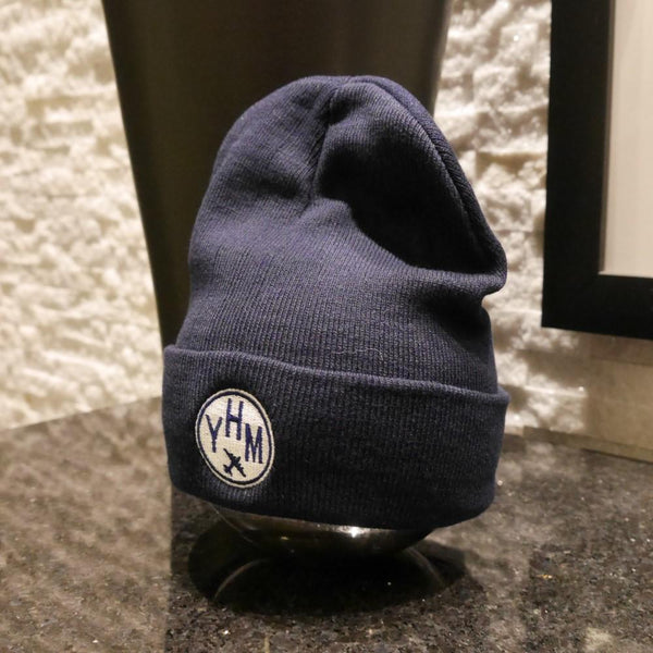 YHM Designs - Vintage Roundel Airport Code Winter Hat 2