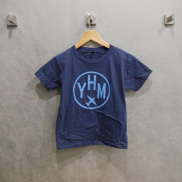 YHM Designs - Vintage Roundel Airport Code Youth T-Shirt 2