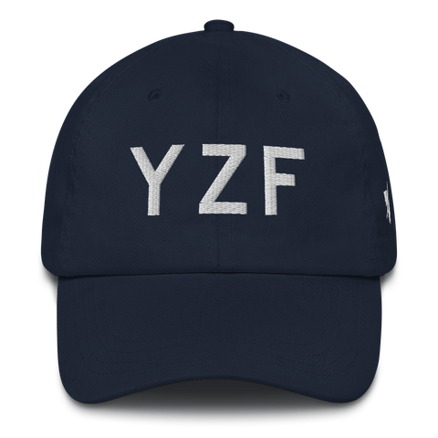 YHM Designs - YZF Yellowknife Airport Code Classic Lettering Design Baseball Cap Dad Hat - Mockup 01