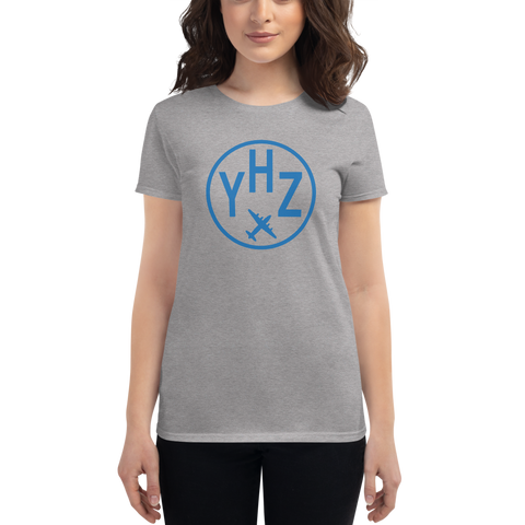 YHM Designs - YHZ Halifax Airport Code T-Shirt - Women's - Birthday Gift