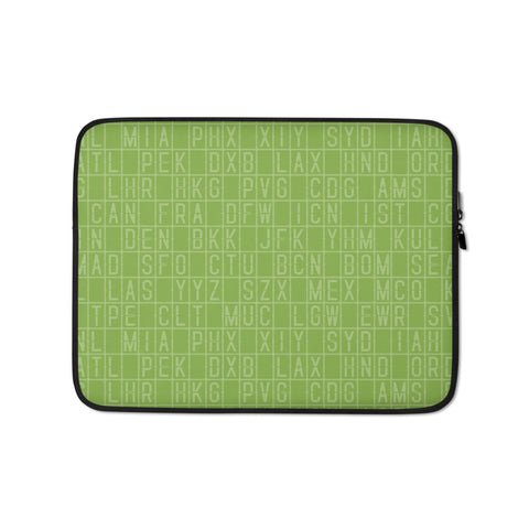 Split-Flap Display Laptop Sleeve • Vivid Green