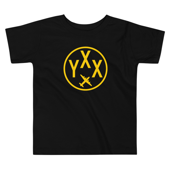 YHM Designs - YXX Abbotsford Airport Code T-Shirt - Toddler Child - Kid's Gift