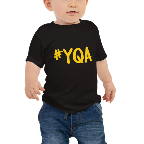 YHM Designs - YQA Muskoka Airport Code Hashtag Design T-Shirt - Baby Infant - Boy's or Girl's Gift