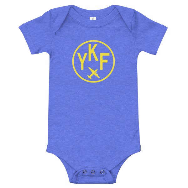 YHM Designs - YKF Waterloo Airport Code Onesie Bodysuit - Baby Infant - Kids' or Children's Gift