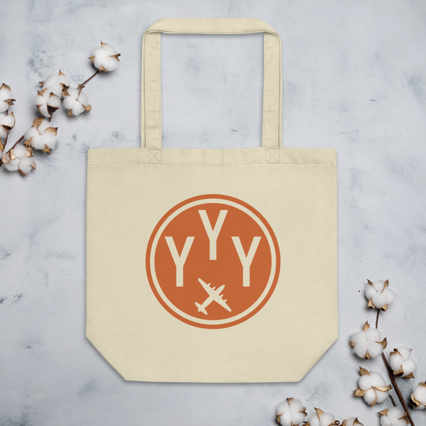 YHM Designs - YYY Mont-Joli Airport Code Organic Cotton Tote Bag - Lifestyle