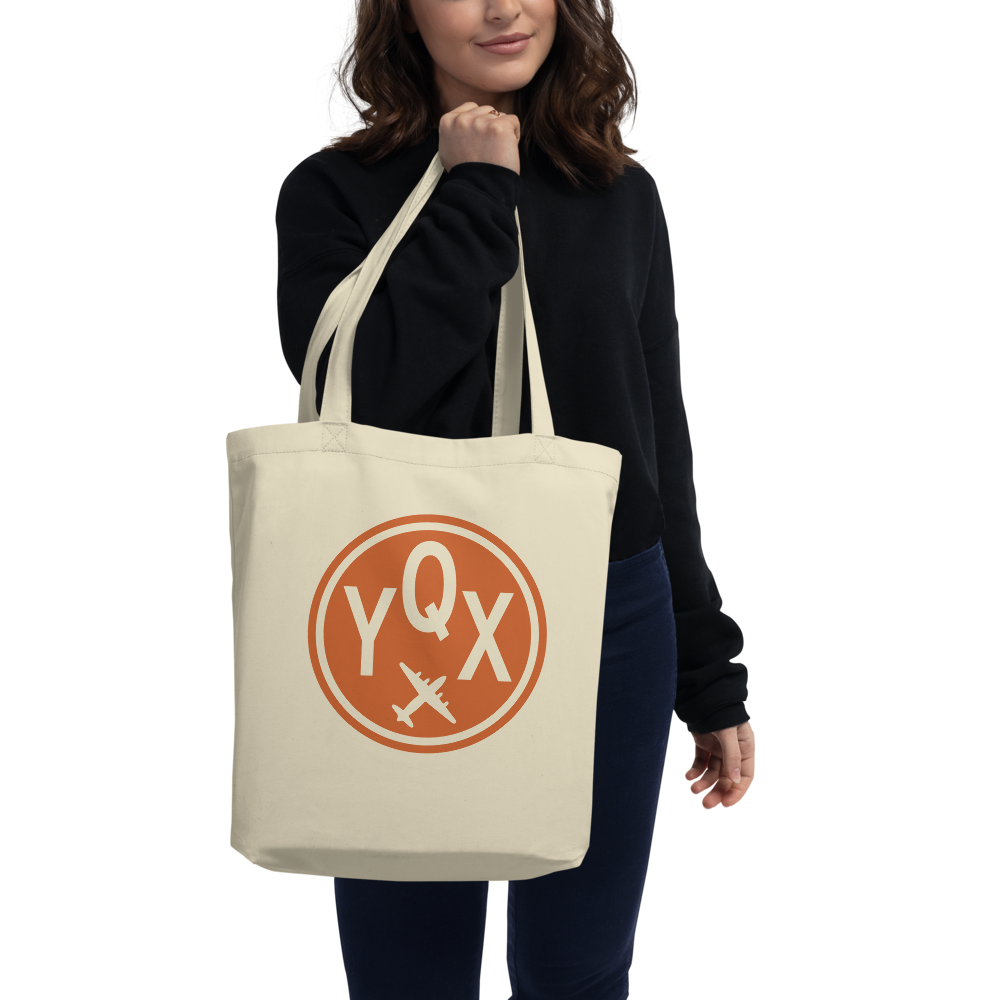 YHM Designs - YQX Gander Airport Code Organic Cotton Tote Bag - Lady
