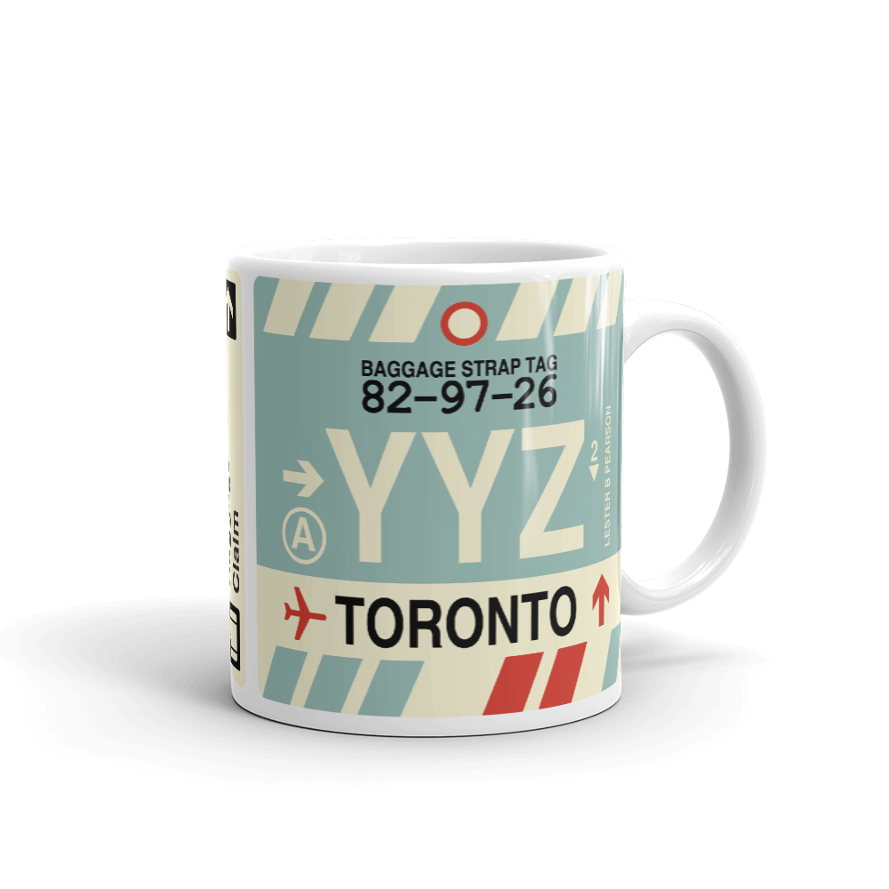 YHM Designs - YYZ Toronto Airport Code Coffee Mug - Teacher Gift, Airbnb Decor - Side