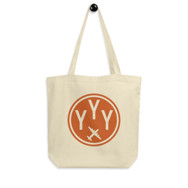 YHM Designs - YYY Mont-Joli Airport Code Organic Cotton Tote Bag - Peg