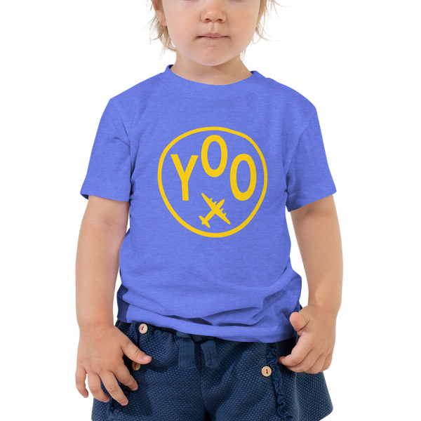 YHM Designs - YOO Oshawa Airport Code T-Shirt - Toddler Child - Boy's or Girl's Gift