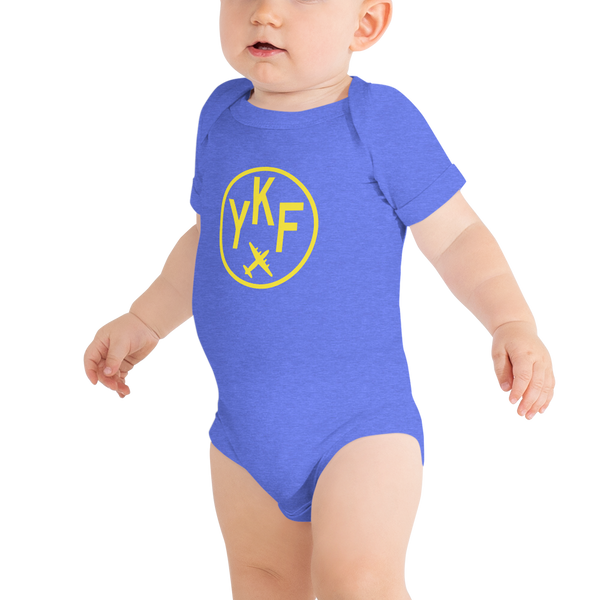 YHM Designs - YKF Waterloo Airport Code Onesie Bodysuit - Baby Infant - Grandchildren's Gift