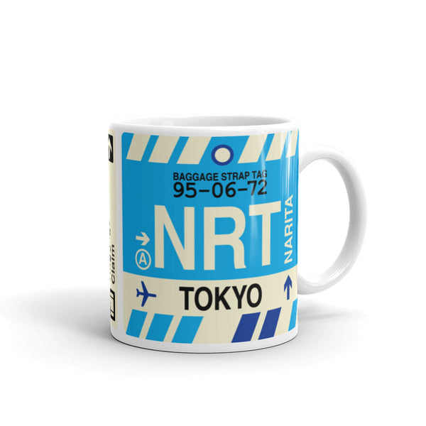 YHM Designs - NRT Tokyo Airport Code Coffee Mug - Graduation Gift, Housewarming Gift - Right