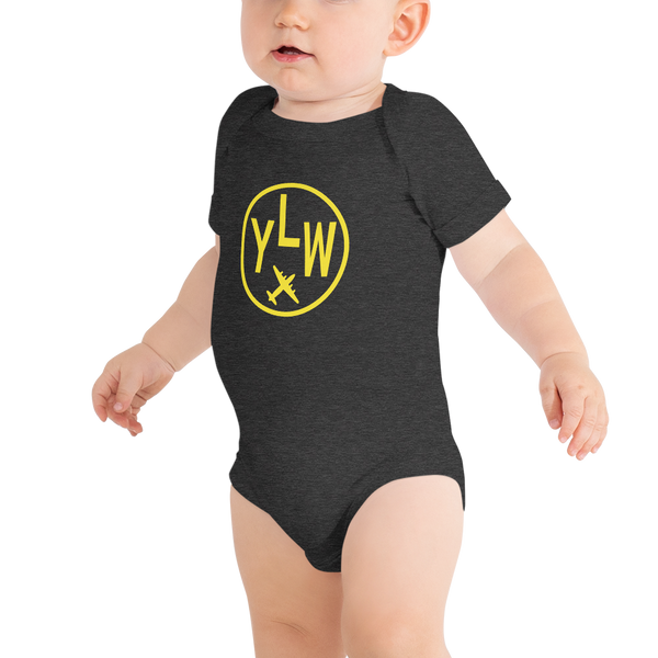 YHM Designs - YLW Kelowna Airport Code Onesie Bodysuit - Baby Infant - Grandchild Gift