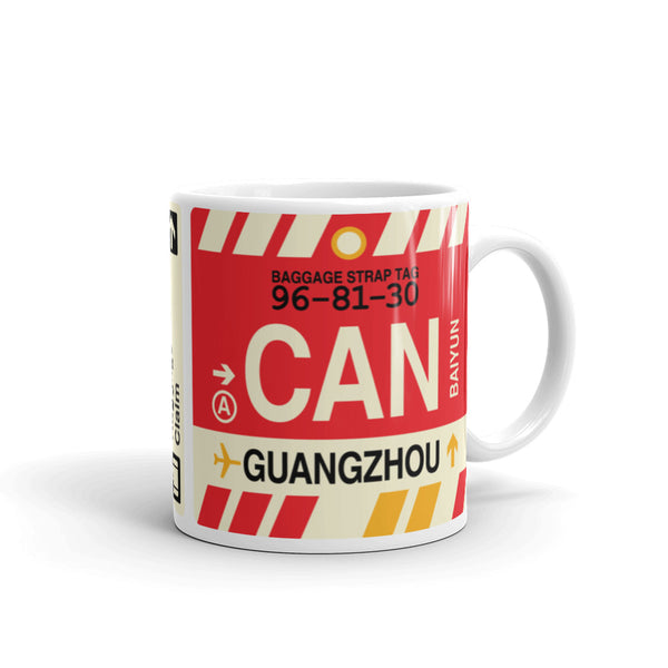 YHM Designs - CAN Guangzhou, China Airport Code Coffee Mug - Graduation Gift, Housewarming Gift - Right