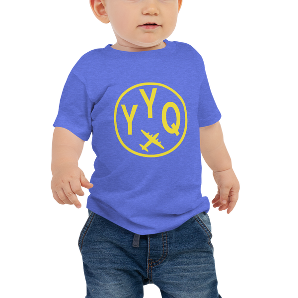 YHM Designs - YYQ Churchill Airport Code T-Shirt - Baby Infant - Boy's or Girl's Gift