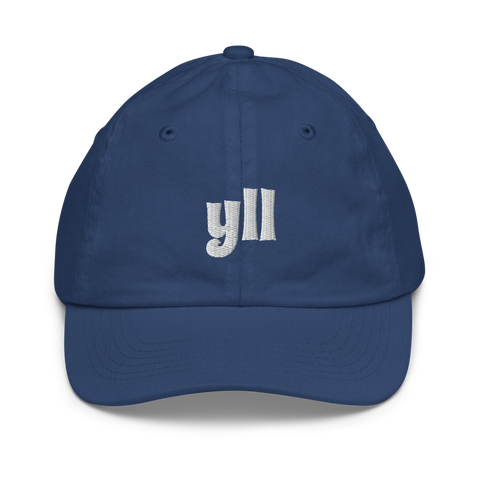 YHM Designs - YLL Lloydminster Airport Code Baseball Cap - Youth/Kids - Blue