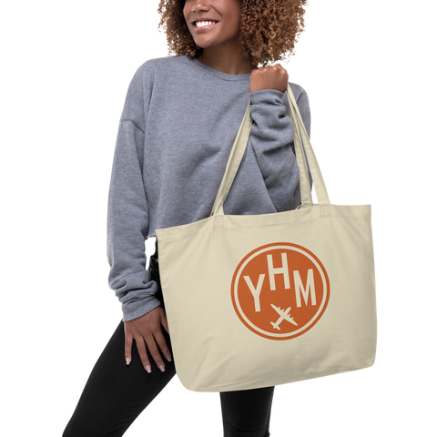 YHM Designs - YHM Hamilton Airport Code Large Organic Cotton Tote Bag - Lady