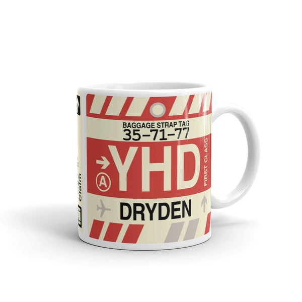 YHM Designs - YHD Dryden Airport Code Coffee Mug - Teacher Gift, Airbnb Decor - Side
