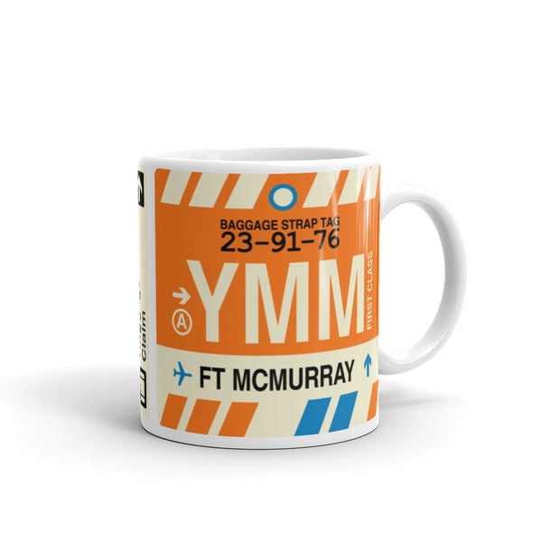 YHM Designs - YMM Fort McMurray Airport Code Coffee Mug - Graduation Gift, Housewarming Gift - Right