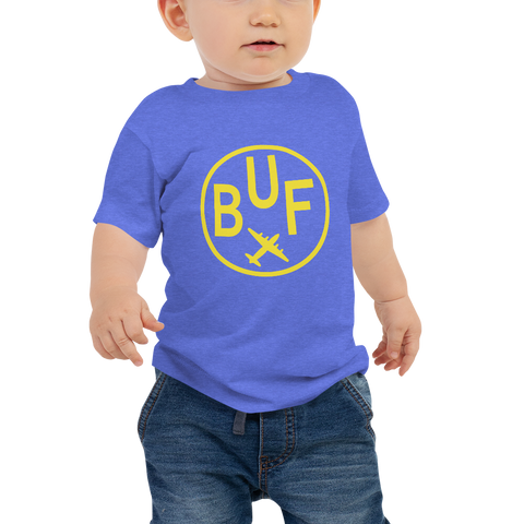 YHM Designs - BUF Buffalo Airport Code T-Shirt - Baby Infant - Boy's or Girl's Gift
