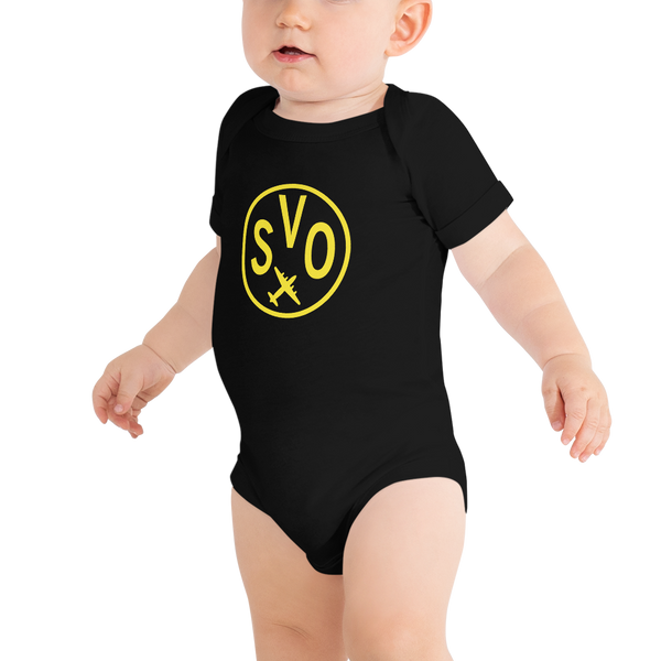 YHM Designs - SVO Moscow Airport Code Onesie Bodysuit - Baby Infant - Boy's or Girl's Gift