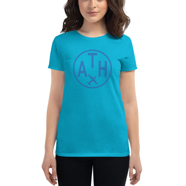 YHM Designs - ATH Athens Airport Code T-Shirt - Women's - Gift for Wife