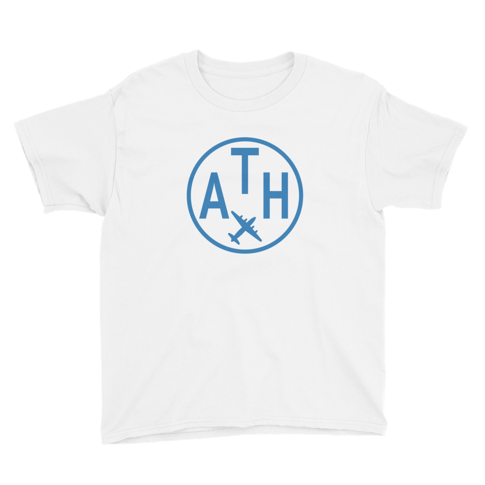 YHM Designs - ATH Athens Airport Code T-Shirt - Child Youth - Children's Gift