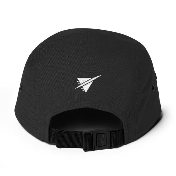 YHM Designs - YQM Moncton Airport Code Camper Hat - Black - Back - Travel Gift