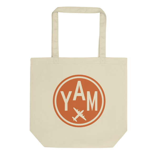 YHM Designs - YAM Sault-Ste-Marie Airport Code Organic Cotton Tote Bag - Plain