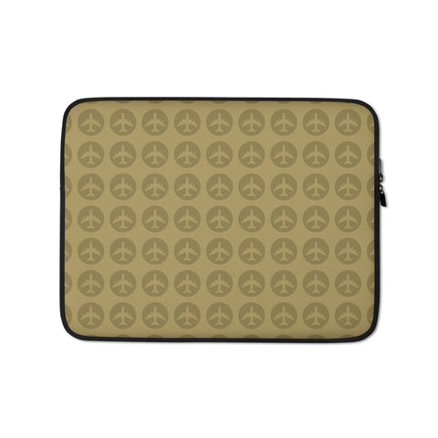 Jetliner Roundel Pattern Laptop Sleeve • Harvest Gold