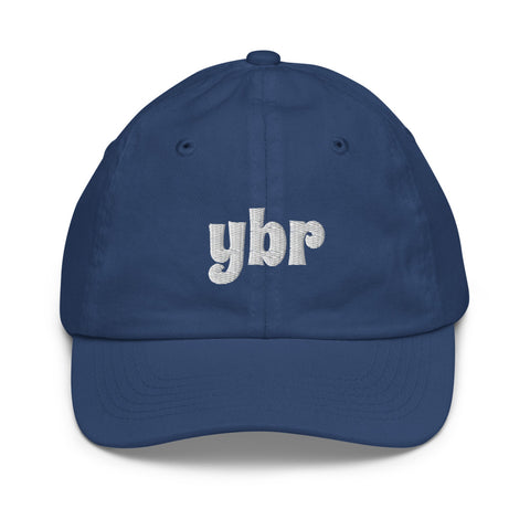 YHM Designs - YBR Brandon Airport Code Baseball Cap - Youth/Kids - Blue