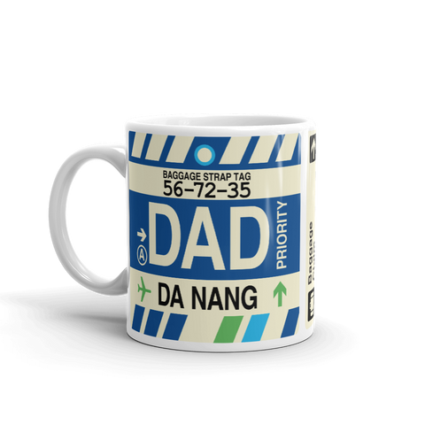 YHM Designs - DAD Da Nang Airport Code Coffee Mug - Graduation Gift, Housewarming Gift - Right