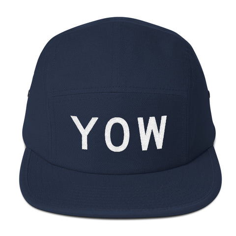 YHM Designs - YOW Ottawa Airport Code Camper Hat - Navy Blue - Front - Christmas Gift
