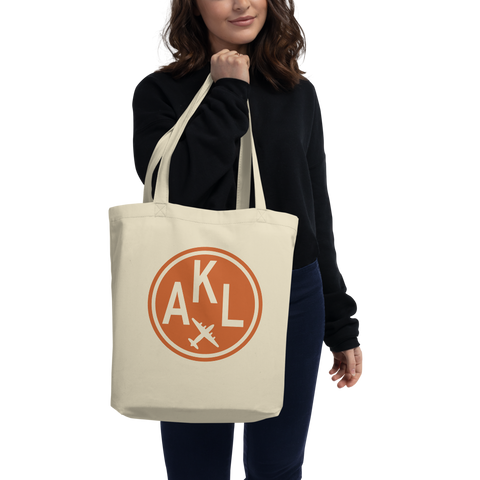 YHM Designs - AKL Auckland Airport Code Organic Cotton Tote Bag - Lady