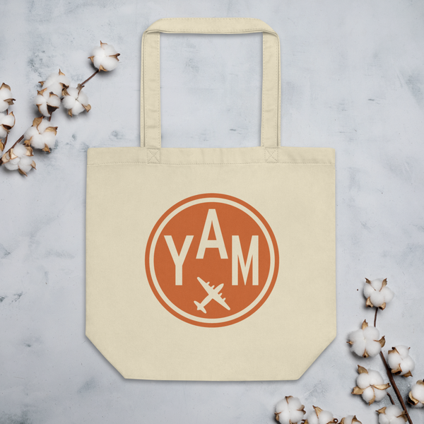 YHM Designs - YAM Sault-Ste-Marie Airport Code Organic Cotton Tote Bag - Lifestyle