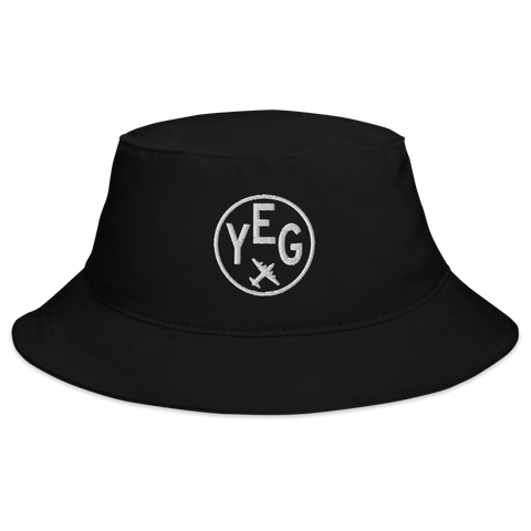 YHM Designs - YEG Edmonton Airport Code Bucket Hat - Black