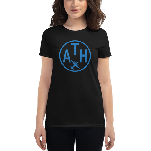 YHM Designs - ATH Athens Airport Code T-Shirt - Women's - Birthday Gift