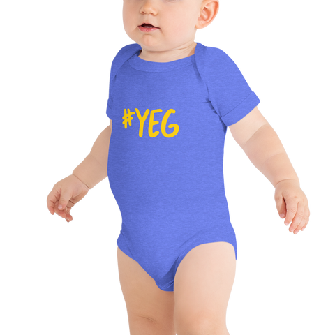YHM Designs - YEG Edmonton Airport Code Onesie Bodysuit Hashtag Design - Baby Infant - Baby Boy's or Girl's Gift