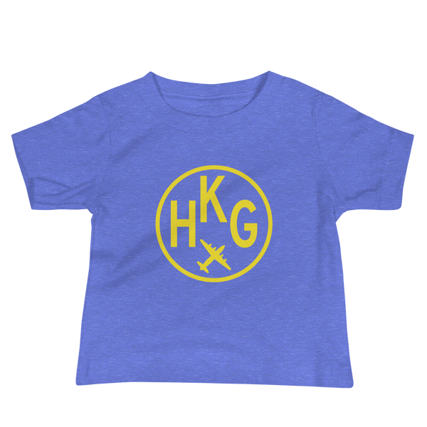 YHM Designs - HKG Hong Kong Airport Code T-Shirt - Baby Infant - Kids' or Children's Gift