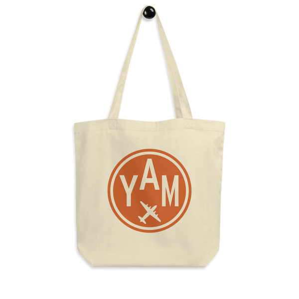 YHM Designs - YAM Sault-Ste-Marie Airport Code Organic Cotton Tote Bag - Peg