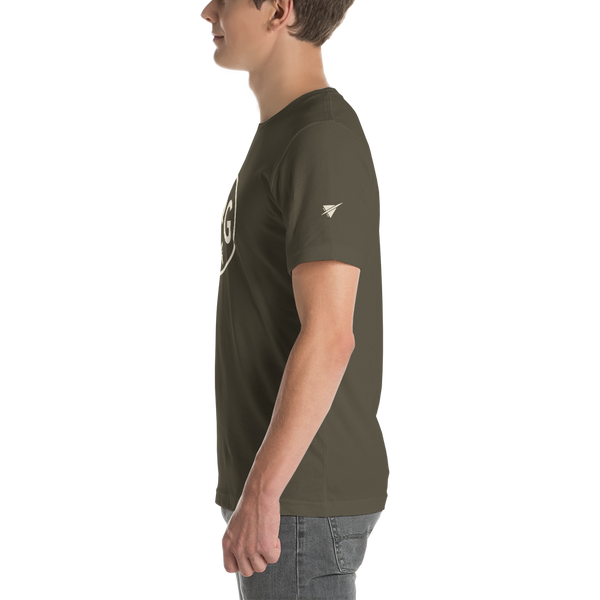 YHM Designs - YQG Windsor Airport Code T-Shirt - Adult - Army Brown - Christmas Gift