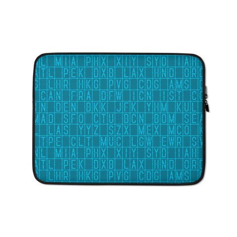 Split-Flap Display Laptop Sleeve • Medium Blue