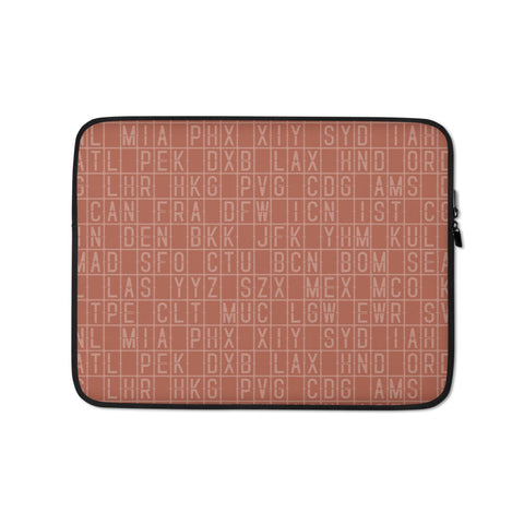 Split-Flap Display Laptop Sleeve • Copper