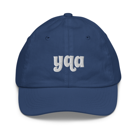 YHM Designs - YQA Muskoka Airport Code Baseball Cap - Youth/Kids - Blue