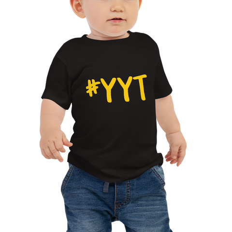 YHM Designs - YYT St. John's Airport Code Hashtag Design T-Shirt - Baby Infant - Boy's or Girl's Gift